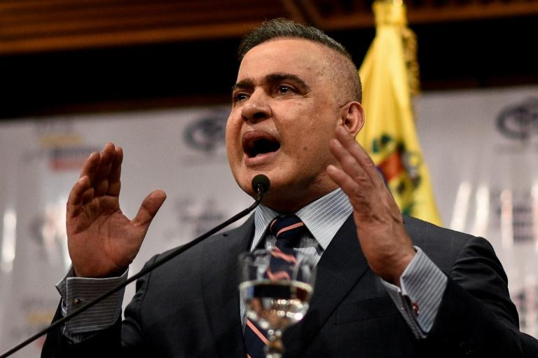 Venezuelan Attorney General Tarek Saab, pictured here at a Caracas press conference August 8, says a general has been arrested in an alleged attempt to assassinate President Nicolas Maduro