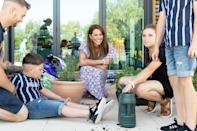 <p>Kate Middleton spends the day with Sonny Saunders, who was diagnosed with an aggressive brain tumor shortly after his 6th birthday, and his family at The Nook in Framlingham Earl, Norfolk, one of three East Anglia's Children's hospices, on Thursdayin the U.K.</p>