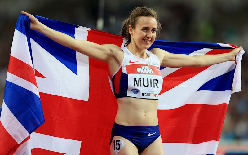 Laura Muir broke Kelly Holmes' British 1,500m record at last year's Anniversary Games - 2016 British Athletics