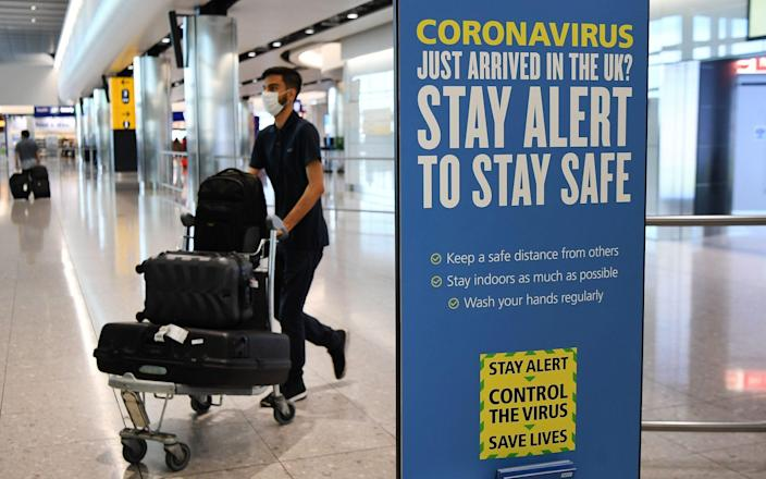 The 33-year-old male was cleared of the virus and discharged from a hospital in April, but tested positive again after returning from Spain via Britain on August 15. - ANDY RAIN/EPA-EFE/Shutterstock/Shutterstock