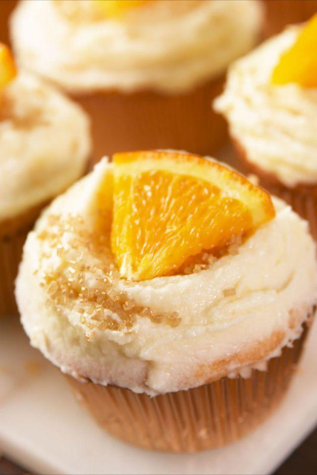 """<p>Saturdays don't really begin until the mimosas have been made and now they won't end until a mimosa cupcake has been eaten for dessert. These are great way to finish off an opened bottle of Champagne, if you ever have any leftover that is!</p><p>Get the <a href=""""https://www.delish.com/uk/cooking/recipes/a28784172/mimosa-cupcakes-recipe/"""" rel=""""nofollow noopener"""" target=""""_blank"""" data-ylk=""""slk:Mimosa Cupcakes"""" class=""""link rapid-noclick-resp"""">Mimosa Cupcakes</a> recipe.</p>"""