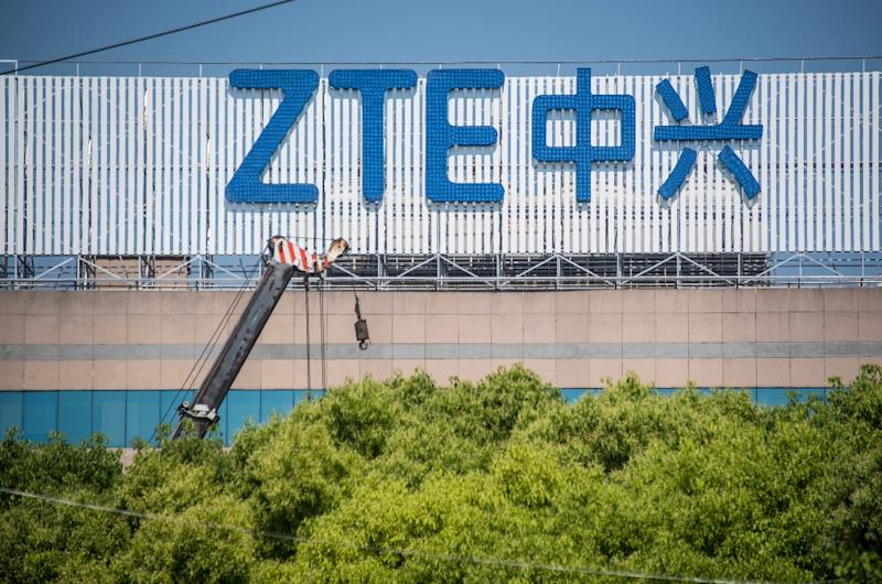 Washington has banned the sale of US components to Chinese telecoms giant ZTE (AFP Photo/Johannes EISELE)