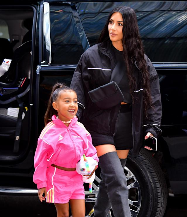 North West recently showed off her new hairstyle while out with mom Kim Kardashian. (Photo: James Devaney/GC Images)