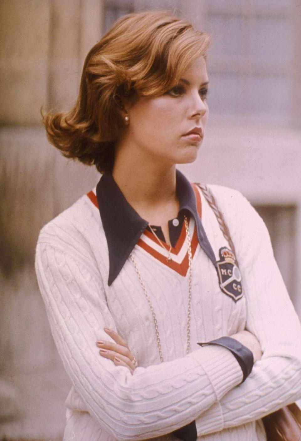 <p>A teenage Princess Caroline, photographed at her private school outside of Paris in 1974.</p>