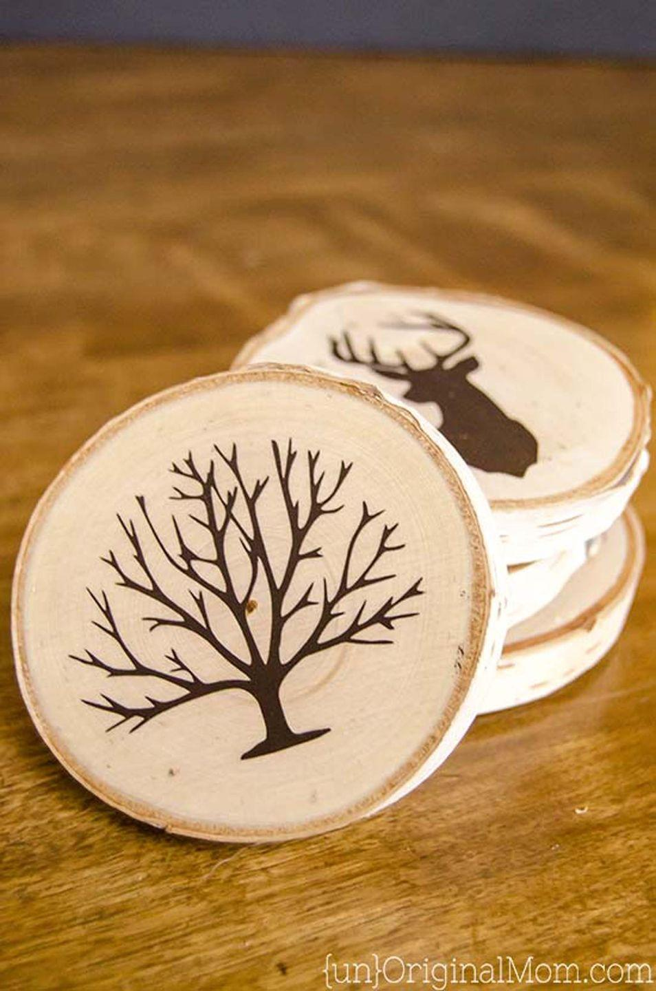 """<p>Customize these DIY coasters with one of Dad's interests, like this hunting-themed set.</p><p><strong>Get the tutorial at <a href=""""https://www.unoriginalmom.com/diy-painted-wood-slice-coasters/"""" rel=""""nofollow noopener"""" target=""""_blank"""" data-ylk=""""slk:Unoriginal Mom"""" class=""""link rapid-noclick-resp"""">Unoriginal Mom</a>.</strong></p><p><a class=""""link rapid-noclick-resp"""" href=""""https://www.amazon.com/Fuhaieec-Unfinished-Natural-Circles-Ornaments/dp/B01M4LNT4V?tag=syn-yahoo-20&ascsubtag=%5Bartid%7C10050.g.1171%5Bsrc%7Cyahoo-us"""" rel=""""nofollow noopener"""" target=""""_blank"""" data-ylk=""""slk:SHOP WOOD SLICES"""">SHOP WOOD SLICES</a></p>"""