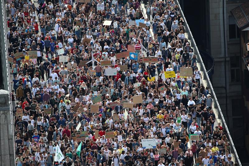 Youth strike for climate: Thousands of eco protesters gather worldwide in mass day of action