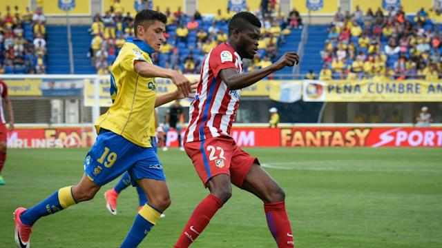 The 24-year-old midfield enforcer got on the scoresheet as Los Rojiblancos put five past La UD at the Estadio Gran Canaria