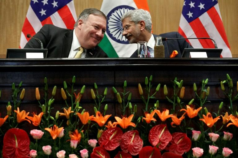 Pompeo and Indian Foreign Minister S. Jaishankar talked tariffs, oil and weapons (AFP Photo/Jacquelyn Martin)