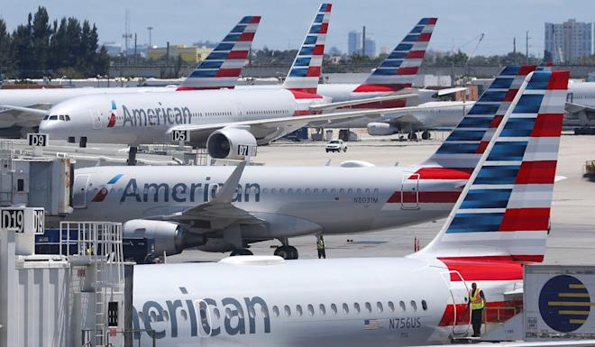 American airlines and other carriers were told to change their references to Taiwan on their websites. Photo: AP