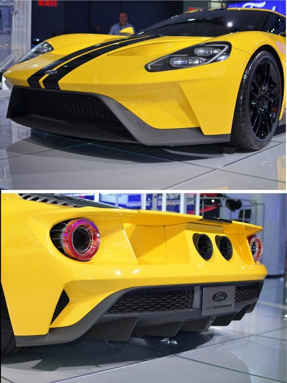 The Ford GT: carbon composites are extensively used in the body and other parts of the car.