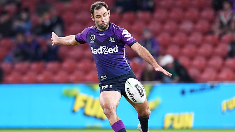 Seen here, Cam Smith in action for the Storm against the Roosters.