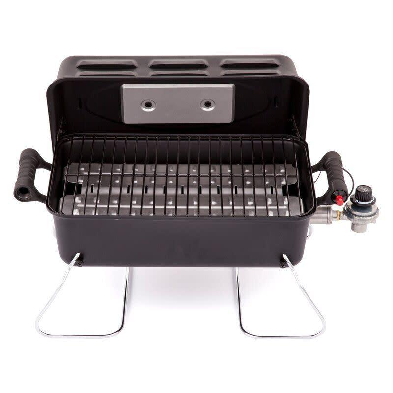 "For those looking for a portable grill that's not too complicated, this one will get you cooking. It has a grate that you can throw in the dishwasher, a latching lid and only weighs 10 pounds. <a href=""https://yhoo.it/3eL1VUs"" rel=""nofollow noopener"" target=""_blank"" data-ylk=""slk:Find it for $40 at Wayfair"" class=""link rapid-noclick-resp""> Find it for $40 at Wayfair</a>."
