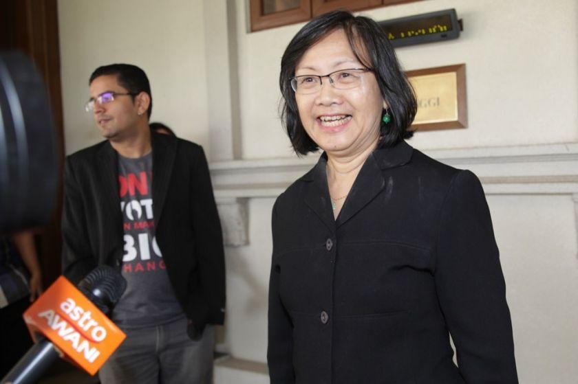 Maria Chin Abdullah said complaints about possible election campaigning offences must be looked into, adding that they will be presented to the Election Commission (EC) tomorrow. — Picture by Choo Choy May