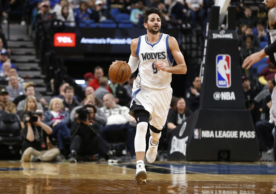 Ricky Rubio is in line to receive a pair of stats-based bonuses. (AP)