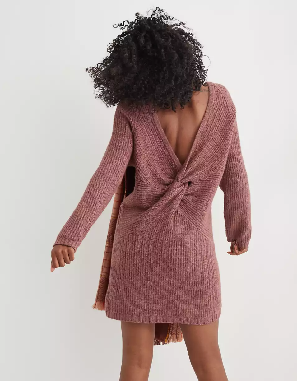"<br><br><strong>Aerie</strong> Twist Back Sweater Dress, $, available at <a href=""https://go.skimresources.com/?id=30283X879131&url=https%3A%2F%2Fwww.ae.com%2Fus%2Fen%2Fp%2Fwomen%2Fdresses%2Faerie-dresses-jumpsuits%2Faerie-twist-back-sweater-dress%2F7495_1062_254"" rel=""nofollow noopener"" target=""_blank"" data-ylk=""slk:Aerie"" class=""link rapid-noclick-resp"">Aerie</a>"
