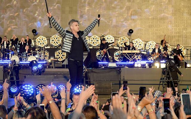 Robbie Williams at BST Hyde Park - Getty Images Europe