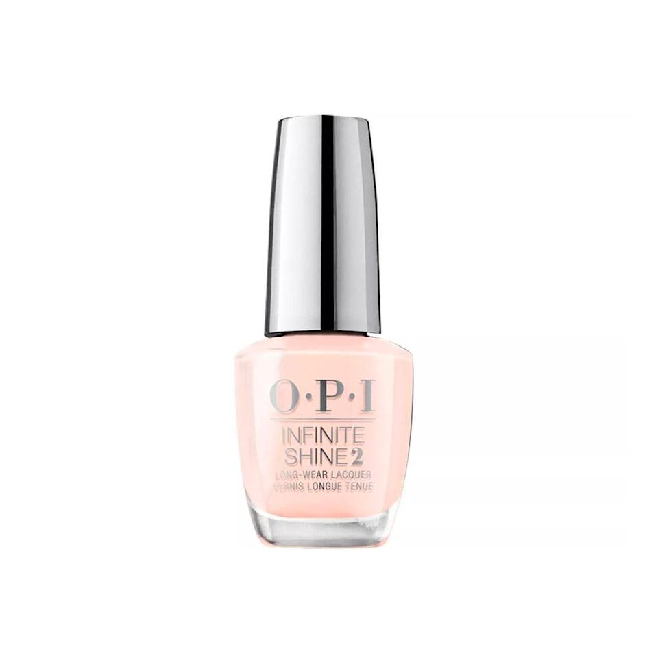 "I've loved OPI since I was little. Even though it's a nail brand, the themed collections, fantastical names, and editorial ad campaigns have always seemed very fashion-y to me. Plus, the color range is stunning. It has everything from classic reds (<a href=""https://fave.co/2X2OIOY"" rel=""nofollow noopener"" target=""_blank"" data-ylk=""slk:ChickFlick Cherry"" class=""link rapid-noclick-resp"">ChickFlick Cherry</a> is my personal favorite) to harder to find slime greens and dusty pastels at drugstore prices. The formula itself feels really luxurious and has a super-shiny finish, and the teeny tiny brush is perfect for painting your own nails. <em>—Isabella Cacciatore, beauty associate</em> $13, O.P.I. <a href=""https://shop-links.co/1706601923641847050"" rel=""nofollow noopener"" target=""_blank"" data-ylk=""slk:Get it now!"" class=""link rapid-noclick-resp"">Get it now!</a>"
