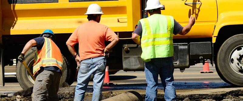 Removing the asphalt road damaged during a 12 inch water main failure on Harvard Ave in Roseburg OR