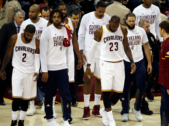 Cavs' best not enough, trail 3-0 in NBA Finals