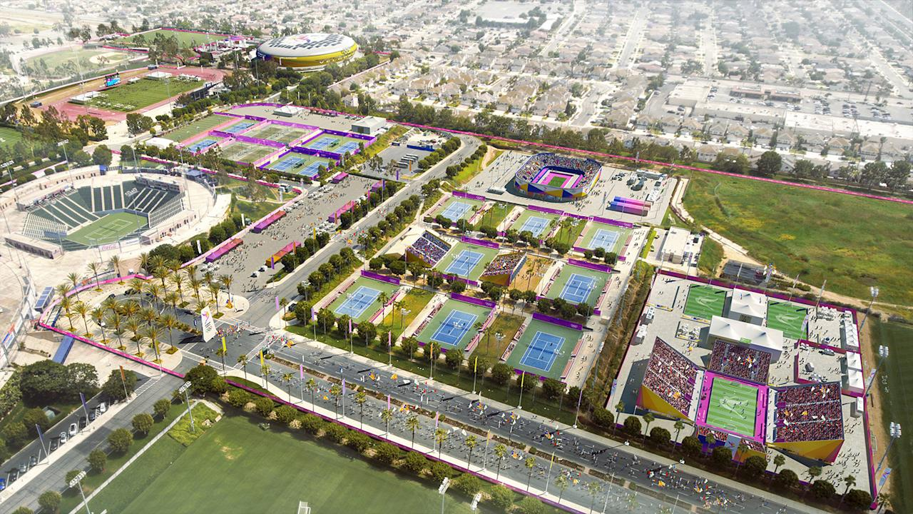 <p>Olympic Field Hockey and Paralympic Football 5-A-Side is shown in this South Bay StubHub rendering. (Photo: Courtesy LA 2024) </p>