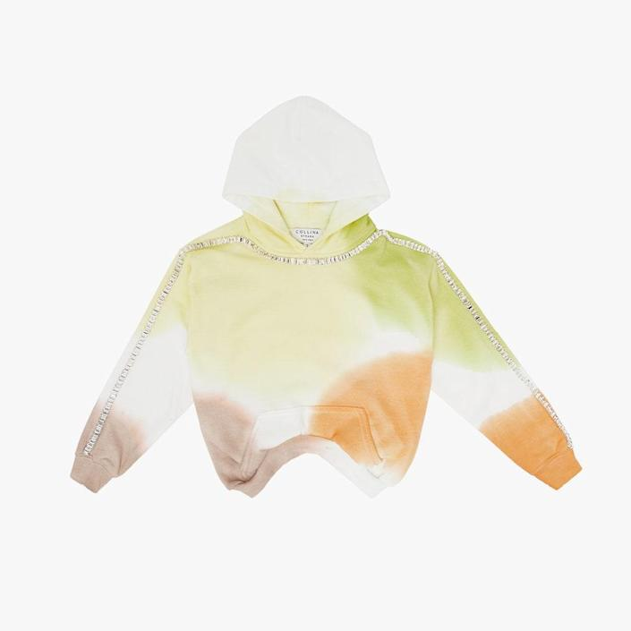 """$300, SSENSE. <a href=""""https://www.ssense.com/en-us/everything-else/product/collina-strada/ssense-exclusive-kids-white-and-green-sporty-spice-round-hem-hoodie/7218201"""" rel=""""nofollow noopener"""" target=""""_blank"""" data-ylk=""""slk:Get it now!"""" class=""""link rapid-noclick-resp"""">Get it now!</a>"""