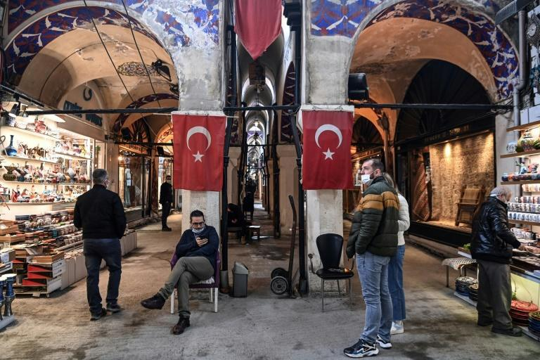 Citizens on the streets of Istanbul worried about rising unemployment -- officially registered at 13.2 percent at the end of 2020 -- and their liras being able to buy less in stores.