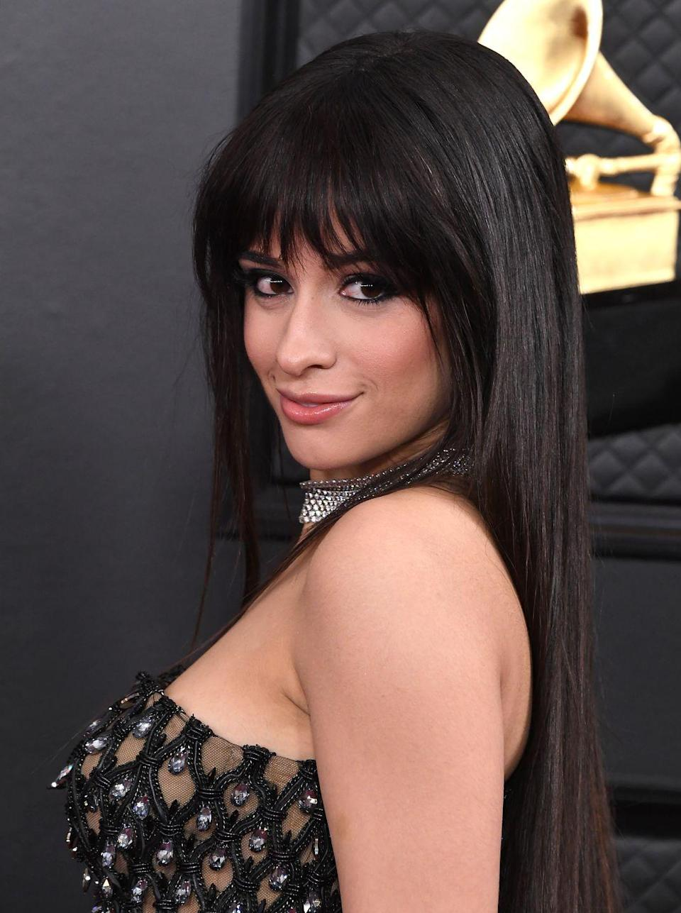 "<p>Singer Camila Cabello has worn her hair long ever since her breakthrough hit ""Havana,"" and the former Fifth Harmony member has definitely inspired a few fans to try out bangs. </p>"