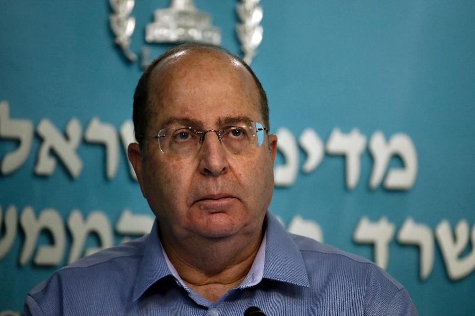 "Israeli Defence Minister Moshe Yaalon, pictured in Jerusalem on August 27, 2014, issued a veiled threat against Iranian nuclear experts saying the Jewish state had a right to defend itself and that he was not ""responsible for their lives"" (AFP Photo/Thomas Coex)"