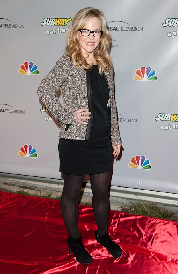 """Rachael Harris arrives at """"The Office"""" series finale wrap party at Unici Casa Gallery on March 16, 2013 in Culver City, California."""