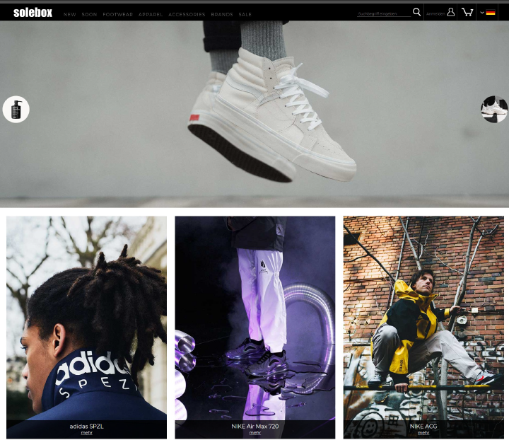 Solebox is an online shop where you can get stylish fashion sneakers.