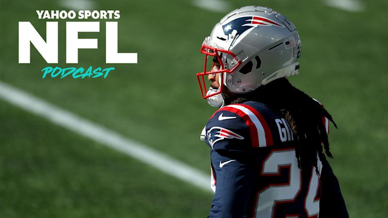 New England Patriots CB Stephon Gilmore has been rumored as a player likely to be moved at next week's trade deadline. (Photo by Maddie Meyer/Getty Images)