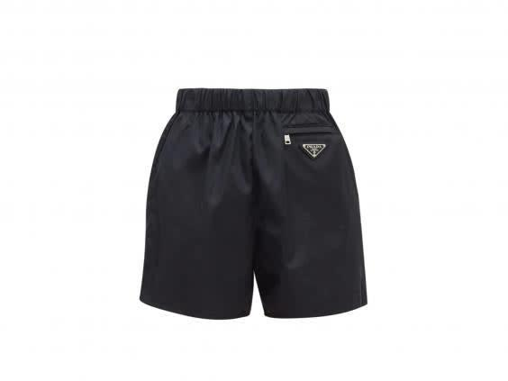 These nylon shorts will keep you cool in warm weather (Prada)