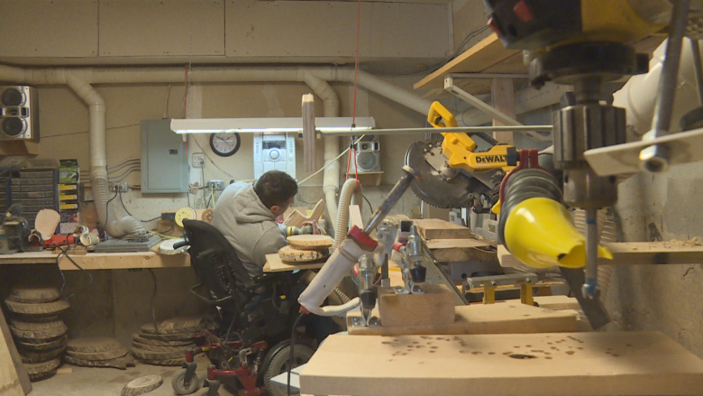 Catastrophic fall from tree sends man along road to woodworking success