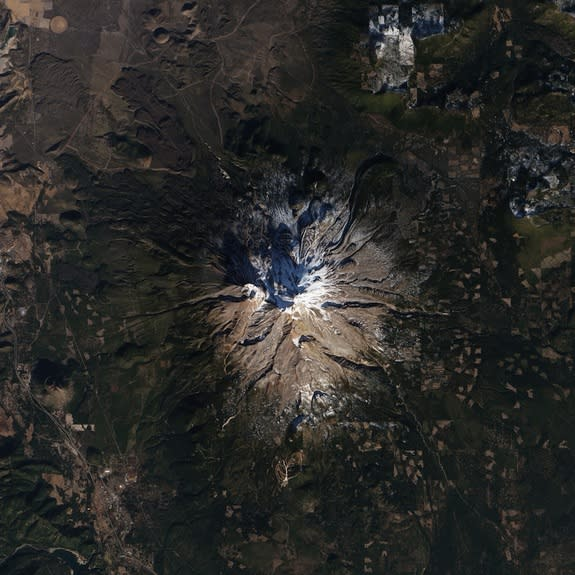 The Southern, Eastern and Western Slopes of Mt. Shasta were almost bare in January.
