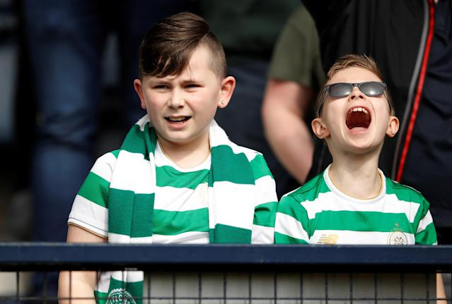 Soccer Football - Scottish Cup Semi Final - Celtic vs Rangers - Hampden Park, Glasgow, Britain - April 15, 2018 Celtic fans during the match Action Images via Reuters/Lee Smith