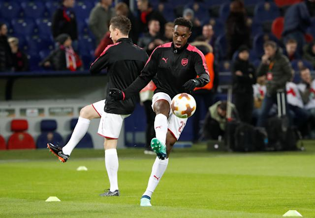 Soccer Football - Europa League Quarter Final Second Leg - CSKA Moscow v Arsenal - VEB Arena, Moscow, Russia - April 12, 2018 Arsenal's Danny Welbeck during the warm up before the match REUTERS/Grigory Dukor