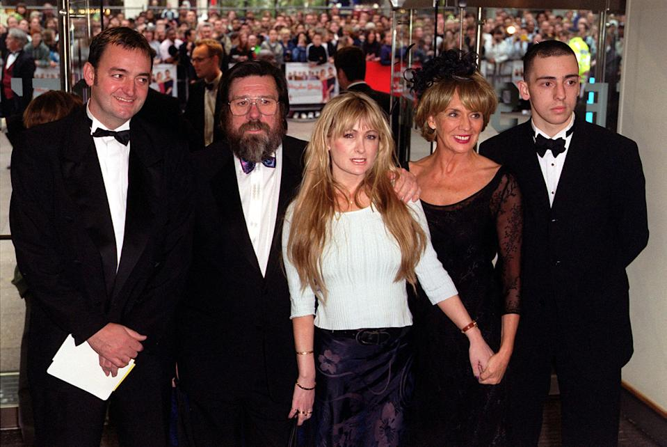 "The cast of the BBC comedy series 'The Royle Family' arrive for the premiere of the film ""Maybe Baby"",  at the Odeon cinema Leicester Square, London. * (L-R) Craig Cash, Ricky Tomlinson, Caroline Aherne, Sue Johnston and Ralph Little.   (Photo by Peter Jordan - PA Images/PA Images via Getty Images)"