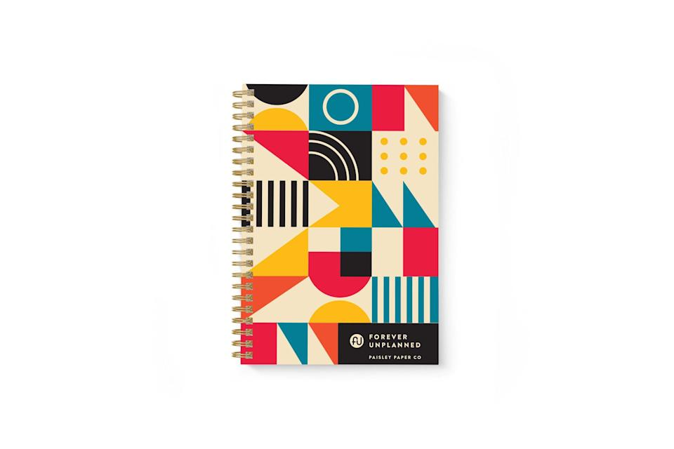 """<p><strong>Paisley Paper Co.</strong></p><p>paisleypaperco.com</p><p><strong>$30.00</strong></p><p><a href=""""https://www.paisleypaperco.com/shop/forever-unplanned"""" rel=""""nofollow noopener"""" target=""""_blank"""" data-ylk=""""slk:SHOP NOW"""" class=""""link rapid-noclick-resp"""">SHOP NOW</a></p><p>Empower her to plan as much or as little as she wants with this undated planner. She can start penciling things in today, tomorrow, or next month. </p>"""