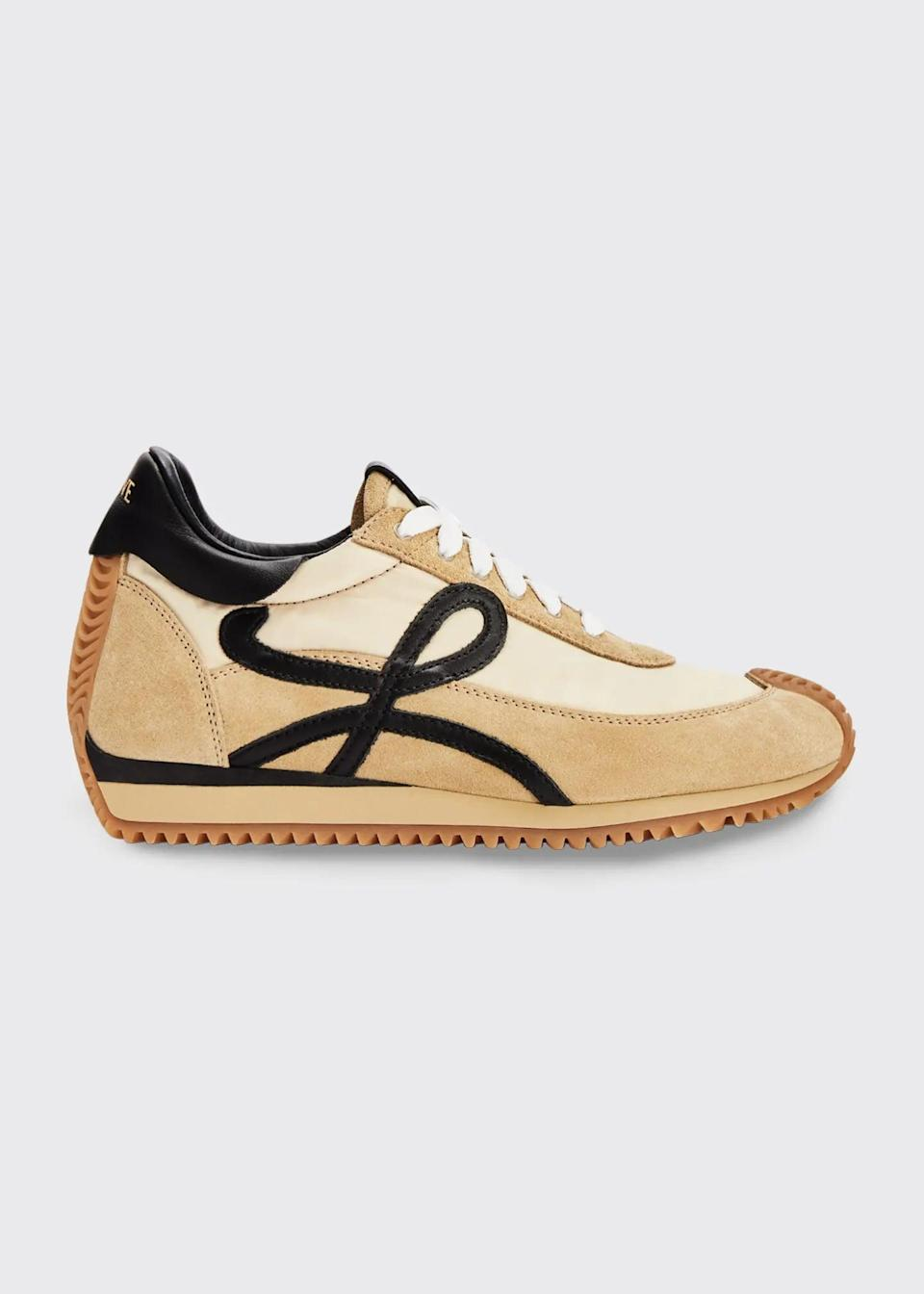 <p>Just look at these <span>Loewe Flow Mixed Leather Runner Sneakers</span> ($690).</p>