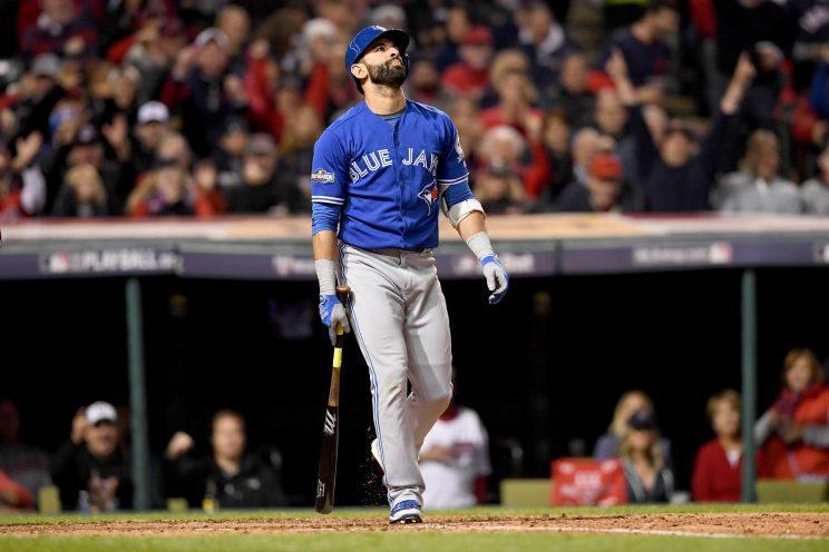 Jose Bautista has some theories for the Blue Jays' struggles, but he can't talk about them. (Getty images/Jason Miller)