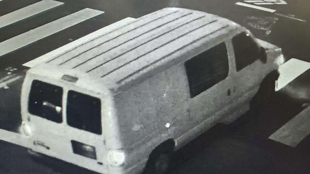PHOTO: FBI officials released images of a white cargo van wanted in the May 29, 2020, fatal shooting of Federal Protective Services Officer Dave Patrick Underwood during a George Floyd protest in Oakland, California. (FBI)