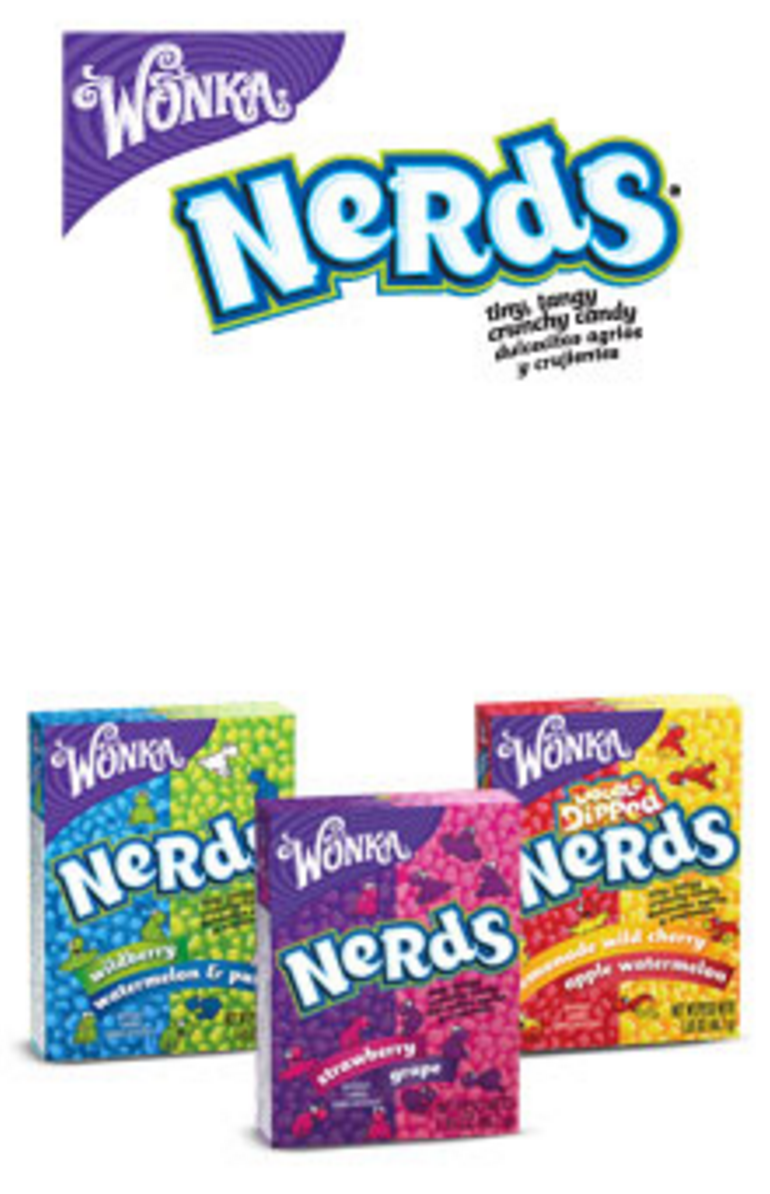 <p><strong>Nerds</strong></p><p>These teeny, tiny candies are offered in several fun flavors, like Grape and Apple Watermelon, and have been a beloved treat for years. </p>