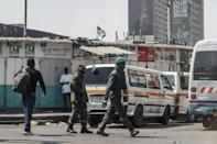 Outgoing president Edgar Lungu deployed troops during the fiercely-contested vote