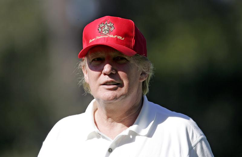 Donald Trump in 2005 at the AT&T Pebble Beach Pro-Am. (Getty)