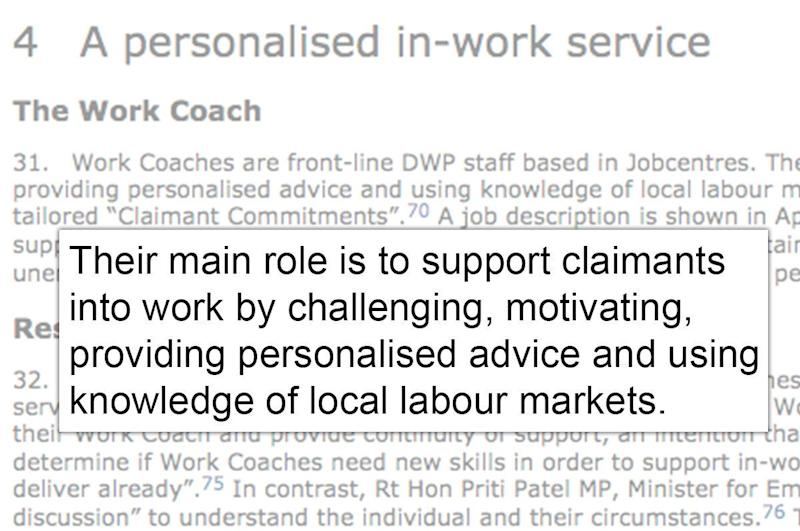 <strong>MPs described the main role of&nbsp;a work coach to be 'support[ing] claimants into work'</strong> (Photo: Parliament/HuffPost UK)