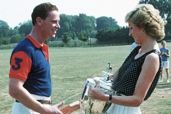 James was Diana's riding instructor in the late 1980s.