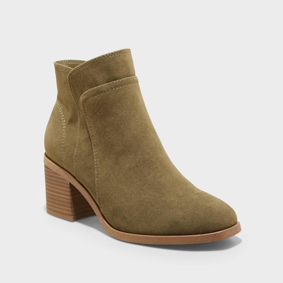 <p>From daytime coffee meets to evening dinners, these <span>Universal Thread Yara Heeled Ankle Boots</span> ($35) will stylishly transition into after dark. They can be made more casual with jeans and a tank top, but also look semi-dressy when paired with a ribbed-knit midi or maxi skirt.</p>