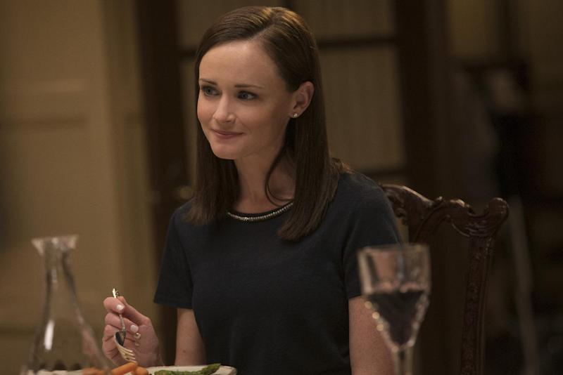 "This image released by Netflix shows Alexis Bledel in a scene from, ""Gilmore Girls: A Year In The Life,"" premiering Friday on Netflix. (Saeed Adyani/Netflix via AP)"