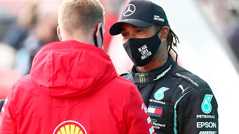Lewis Hamilton and Mick Schumacher, pictured here sharing a touching moment after the Eifel Grand Prix.