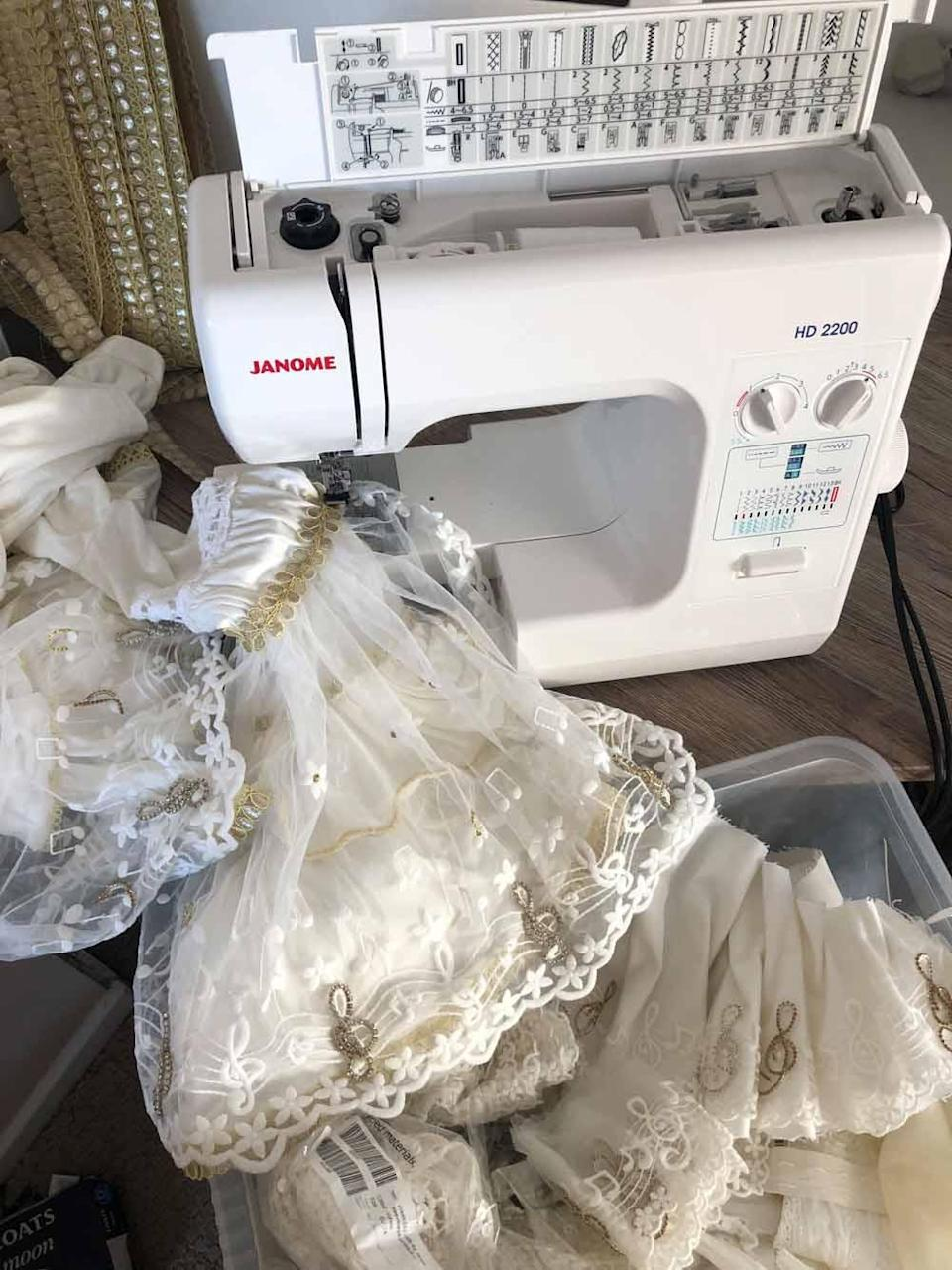 Jane is currently making a new set of outfits for Mammia Mia the party at the O2, London in 2022 (Collect/PA Real Life).